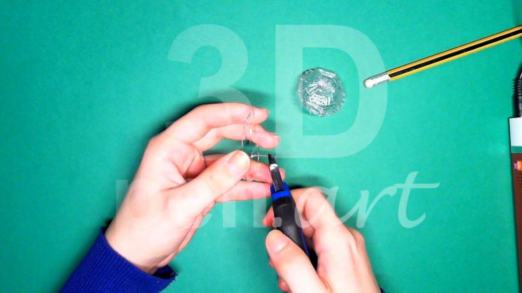Обезьяна 3D ручкой. Каркас тела. Шаг 1