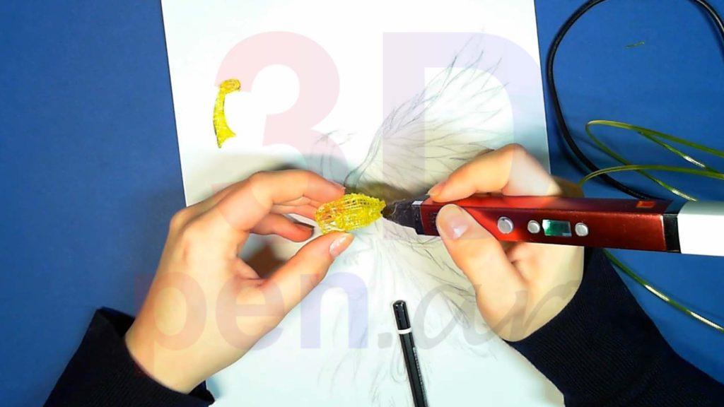 Феникс 3D ручкой. Каркас тела. Шаг 6