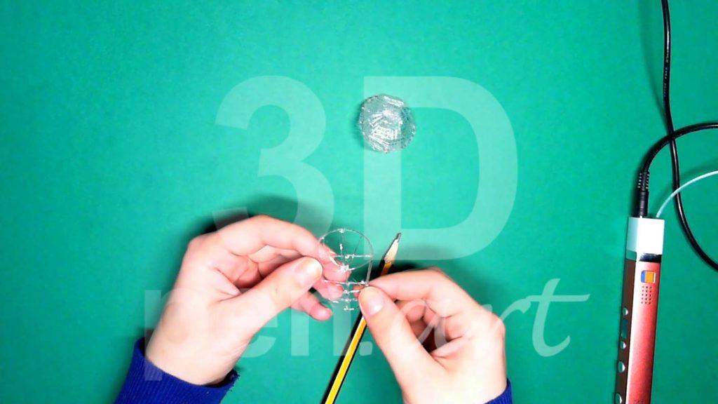Обезьяна 3D ручкой. Каркас головы. Шаг 2