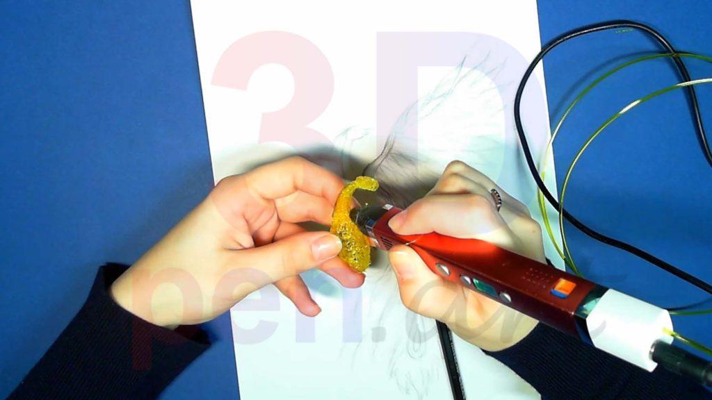 Феникс 3D ручкой. Соединяем детали