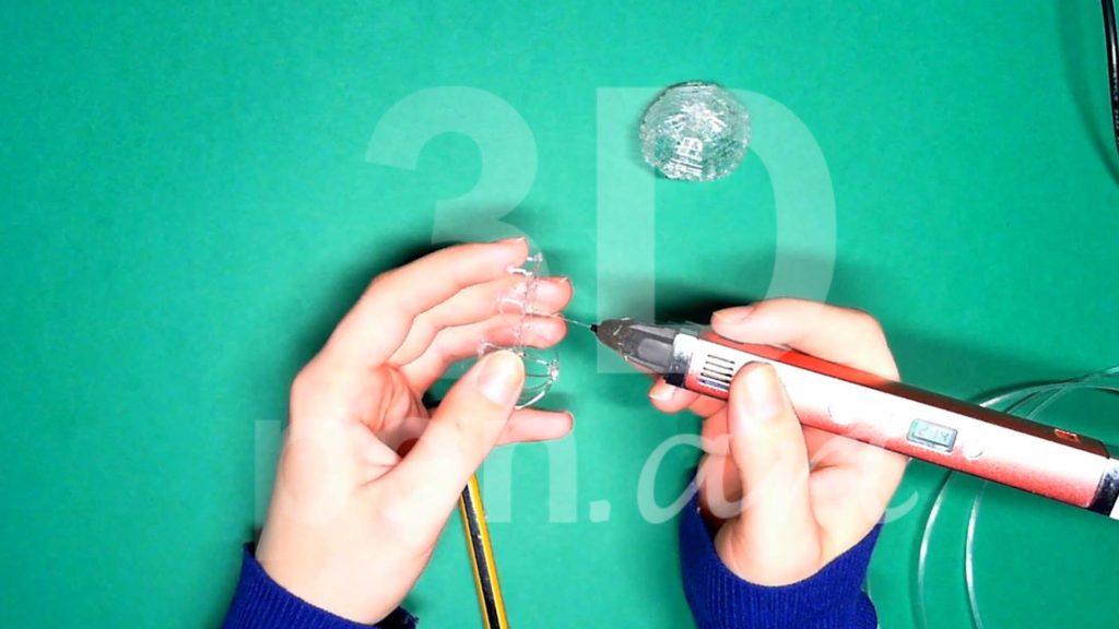 Обезьяна 3D ручкой. Каркас тела. Шаг 3