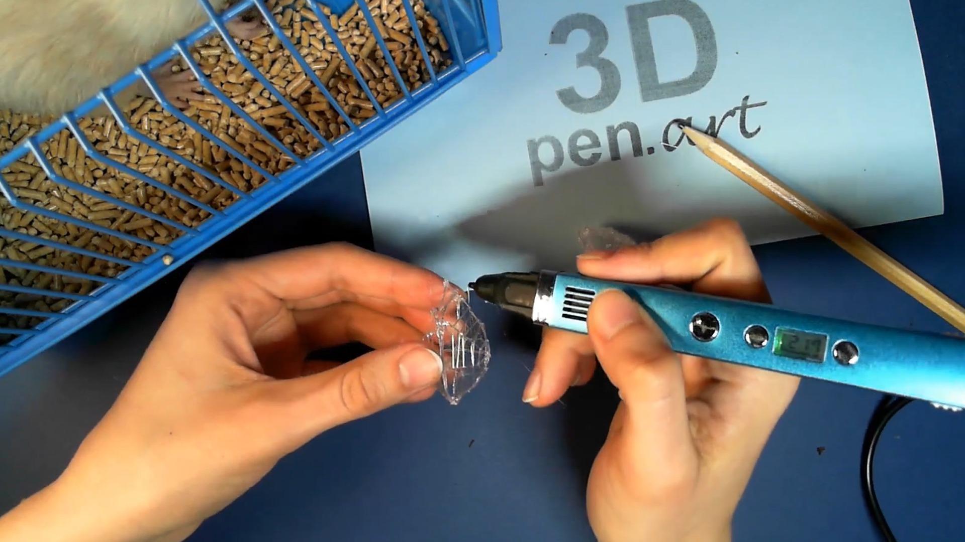 Крыса 3D ручкой. Каркас грудной клетки