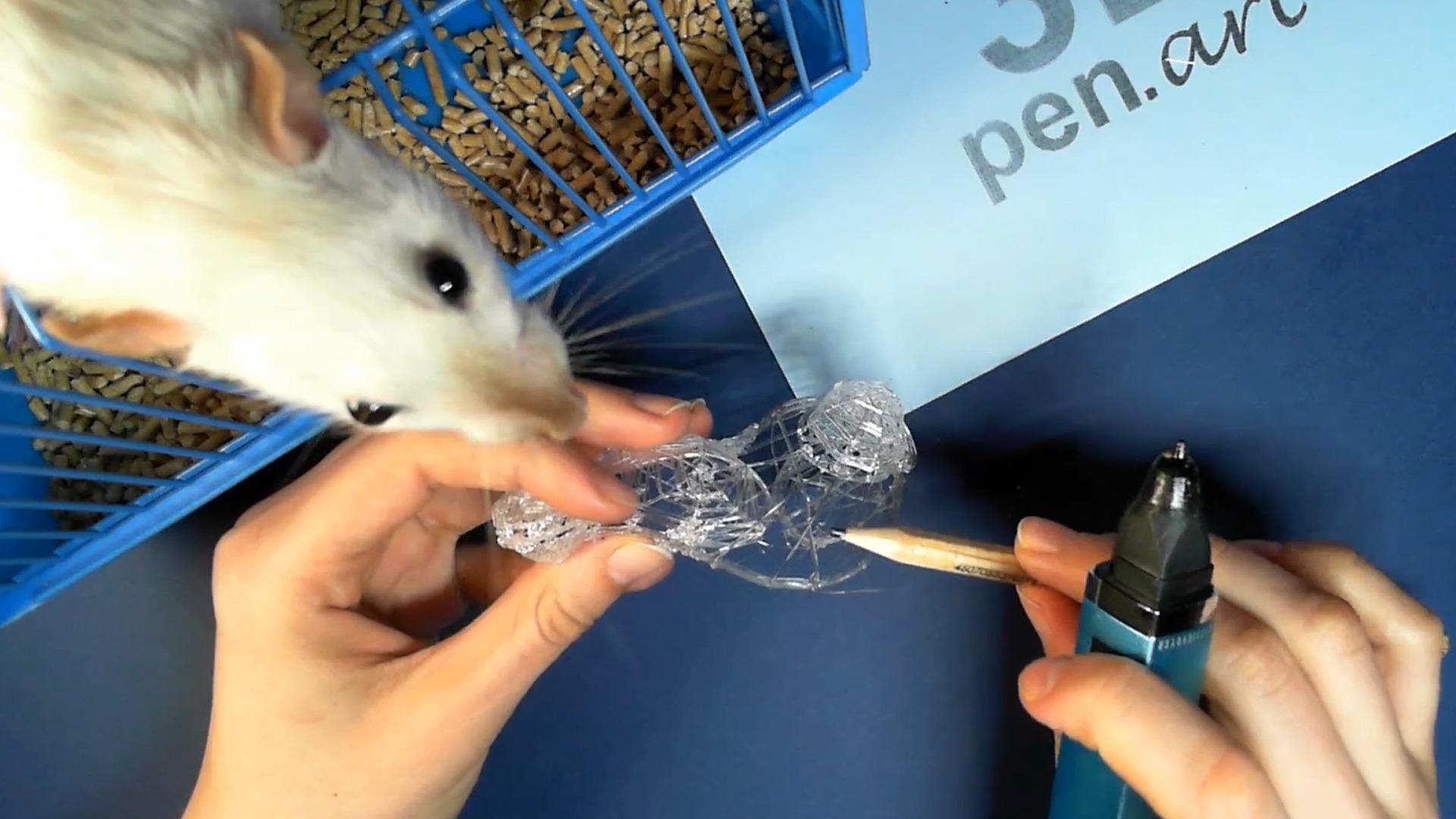 Крыса 3D ручкой. Моделируем объём