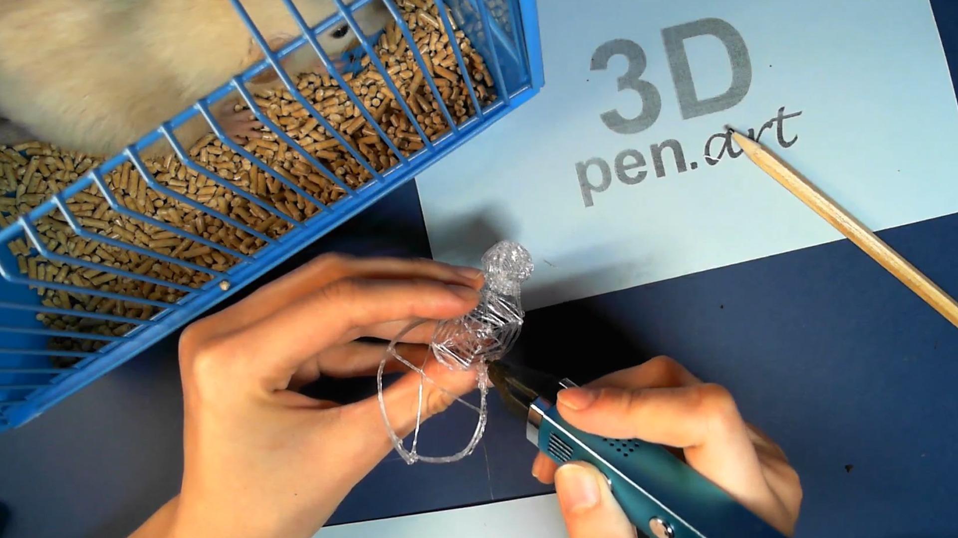 Крыса 3D ручкой. Основание для туловища