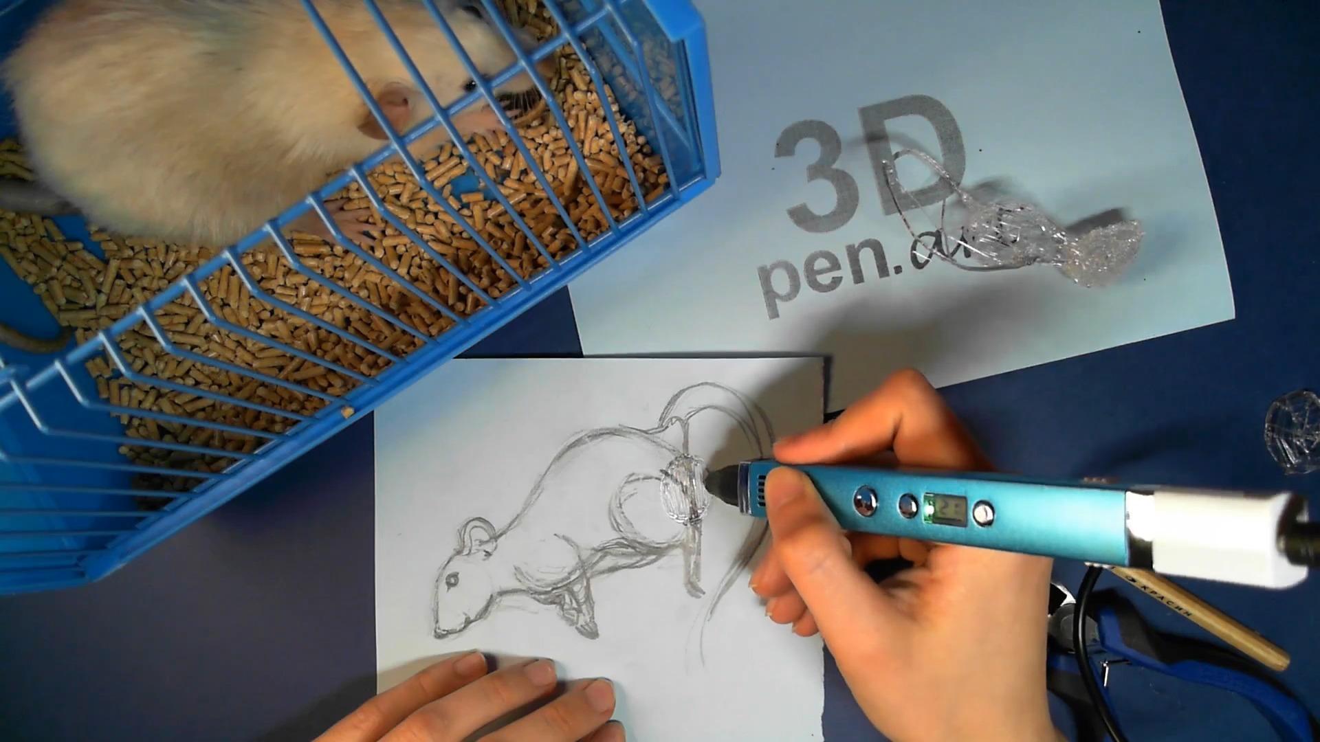 Крыса 3D ручкой. Основание поделки
