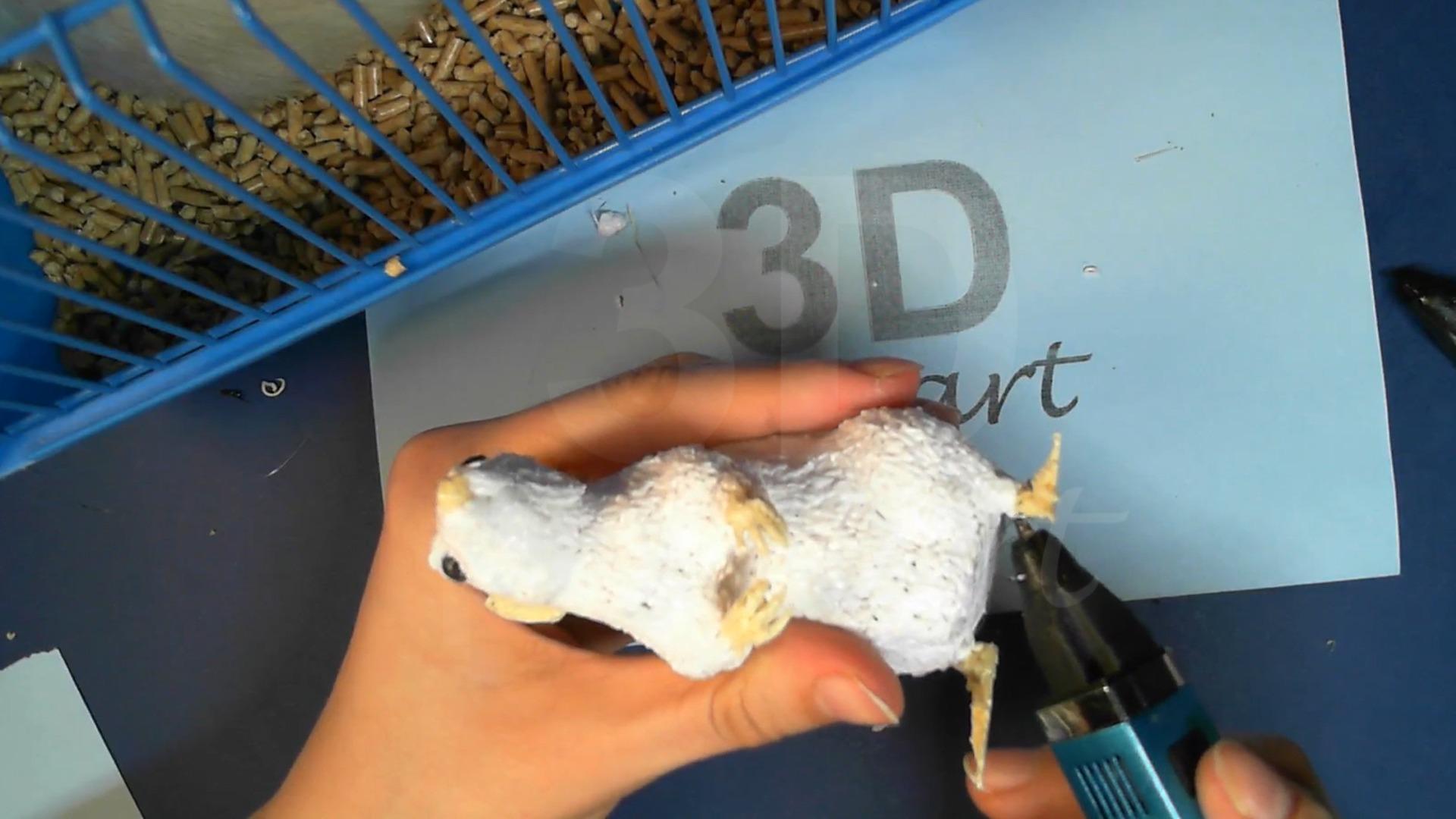 Крыса 3D ручкой. Прикрепляем задние лапки