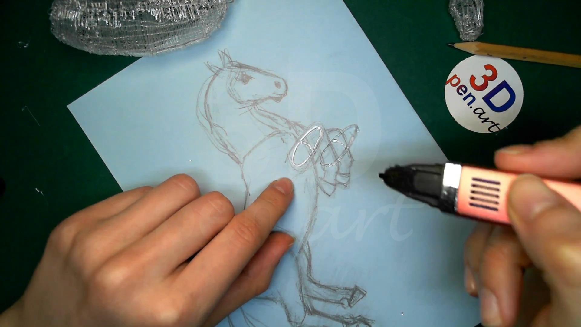Лошадка 3D ручкой. Каркасы ног. Первая деталь