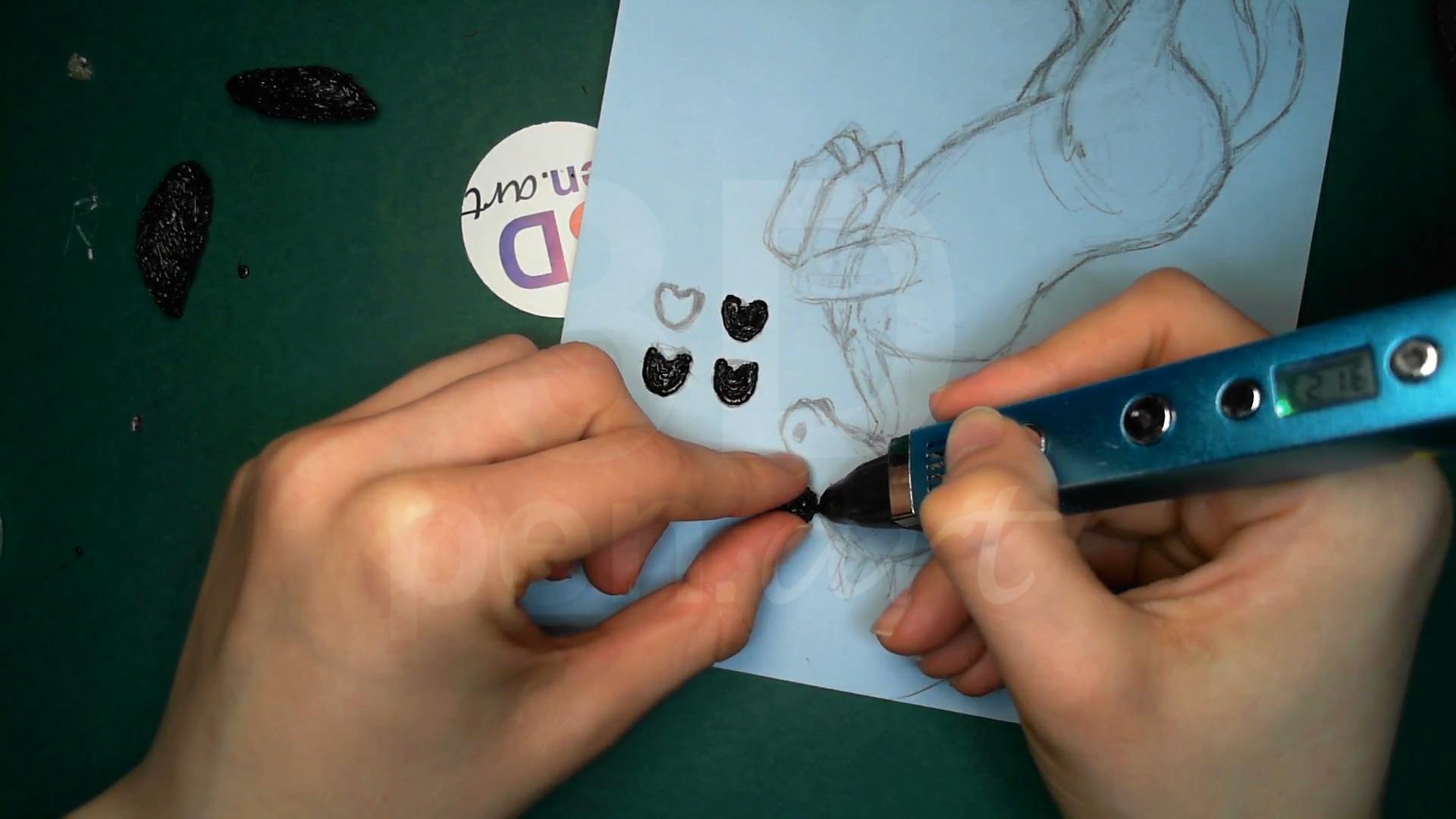 Лошадка 3D ручкой. Моделируем копыта