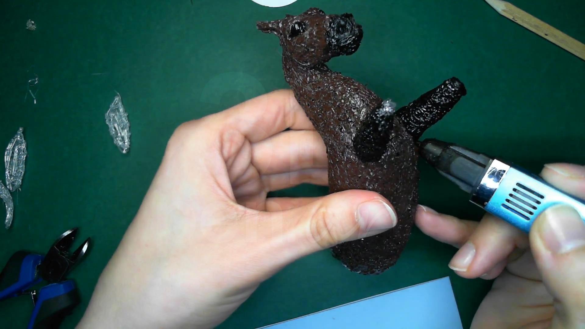 Лошадка 3D ручкой. Основания передних ног