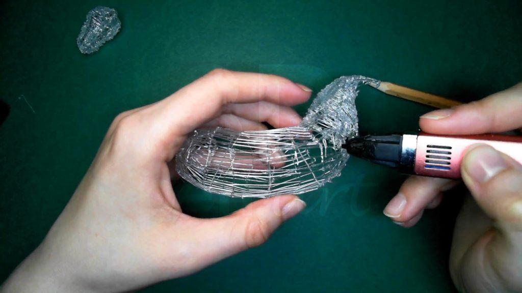 Лошадка 3D ручкой. Соединяем шею с туловищем