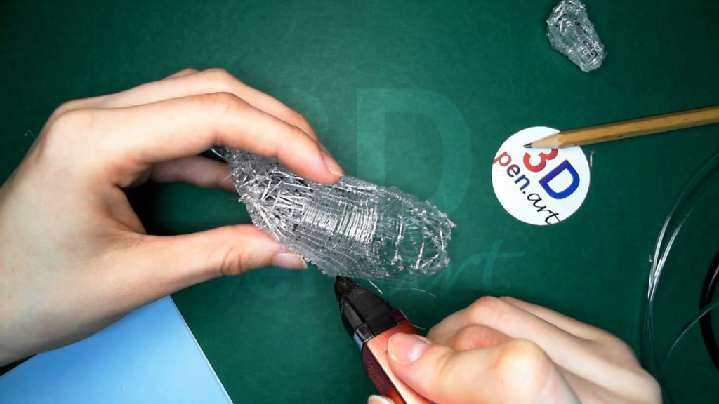 Лошадка 3D ручкой. Черновая штриховка