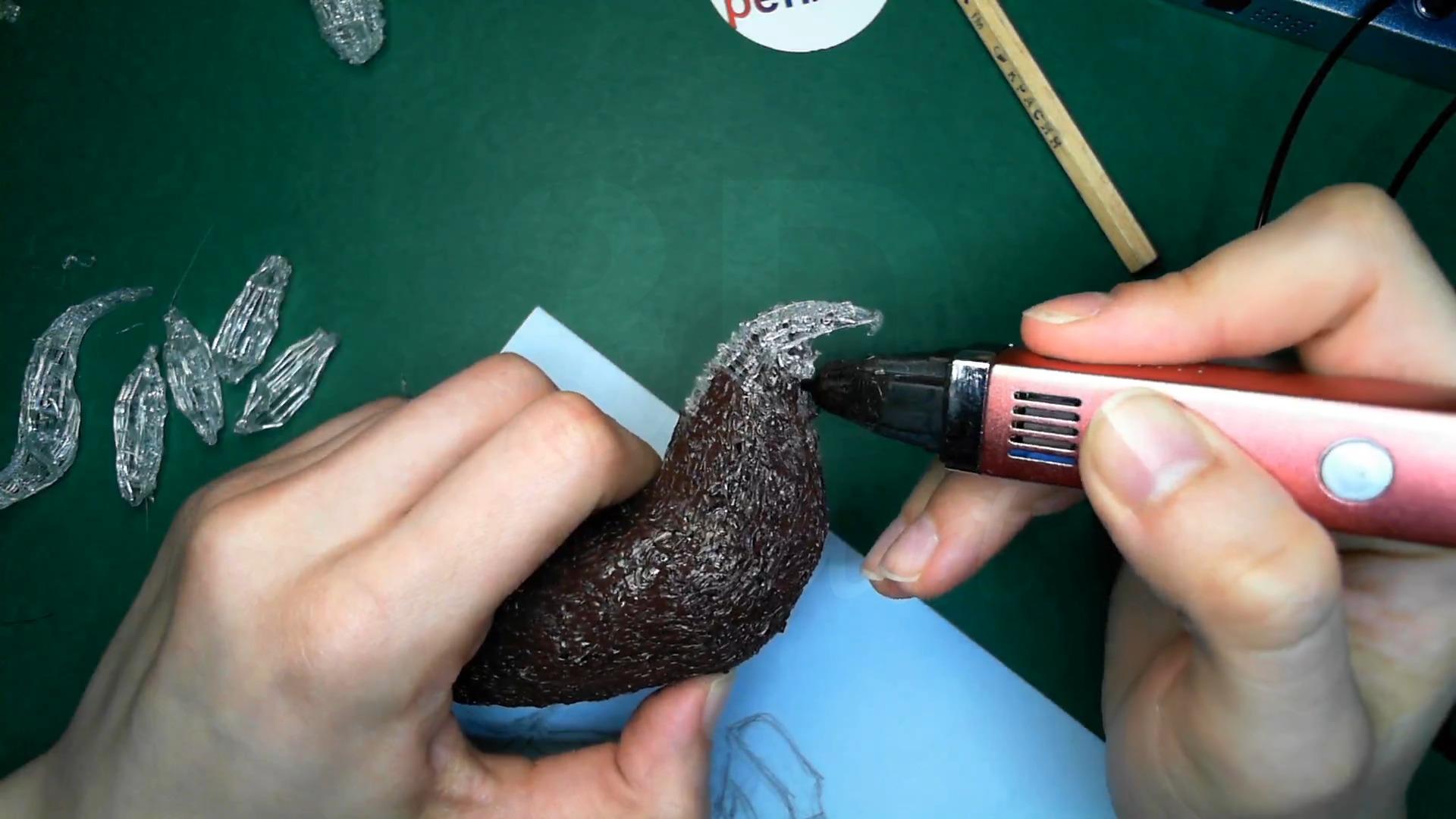 Лошадка 3D ручкой. Чистовая штриховка туловища