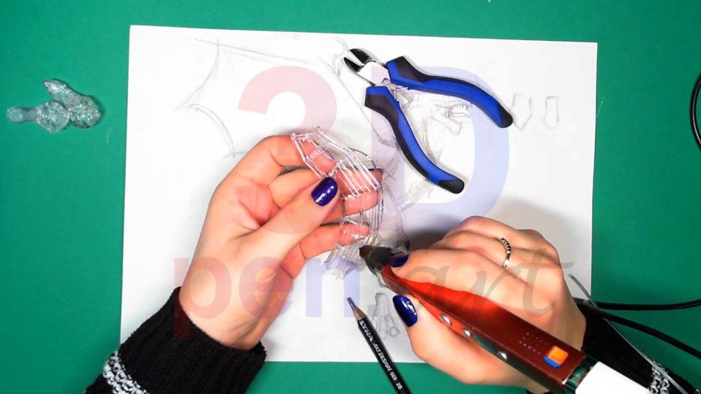 Дракон 3D ручкой Каркас тела. Шаг 3