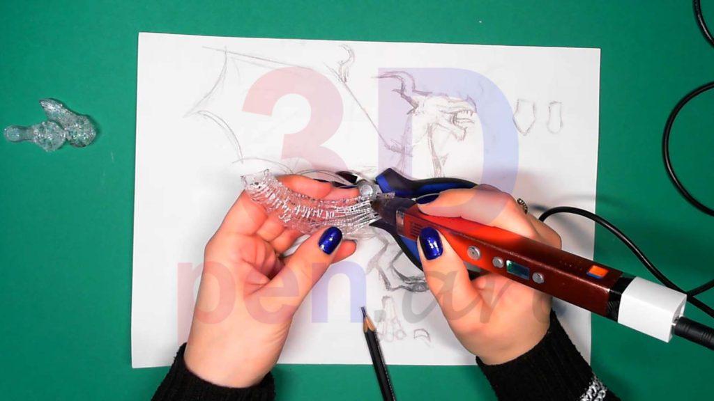 Дракон 3D ручкой Каркас тела. Шаг 4
