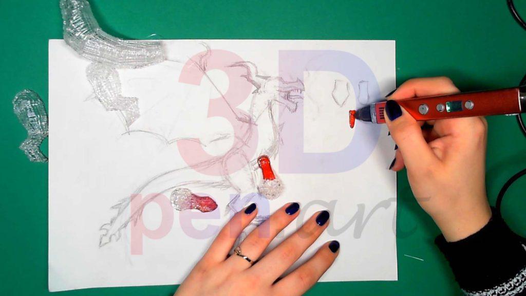 Дракон 3D ручкой. Язык