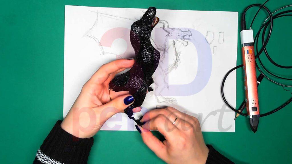Дракон 3D ручкой. Меняем форму стоп