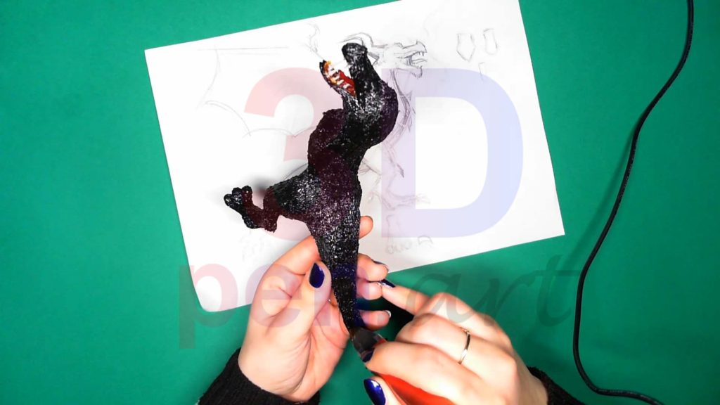 Дракон 3D ручкой. Присоединяем хвост