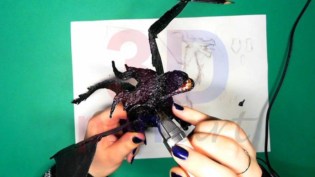 Дракон 3D ручкой. Дополнительные рога