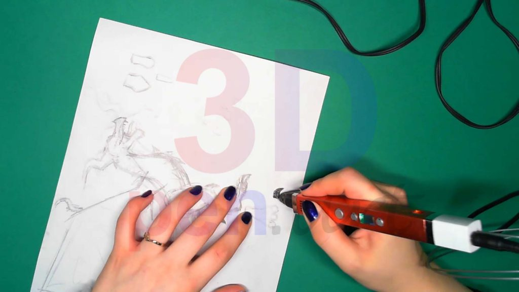 Дракон 3D ручкой. Когти