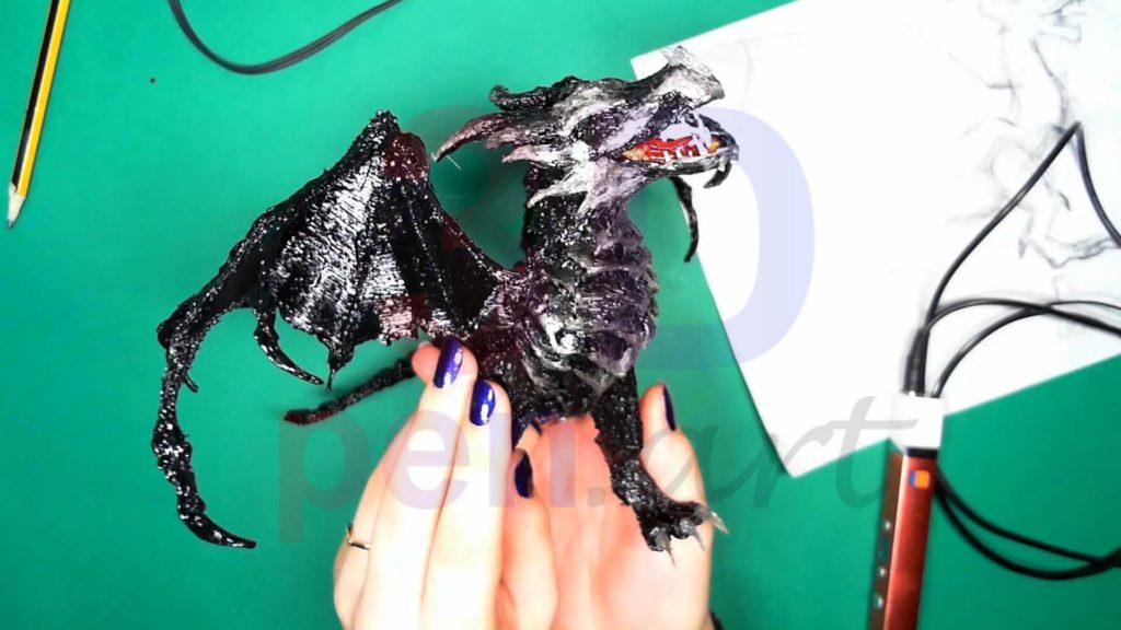 Дракон 3D ручкой. Крылья