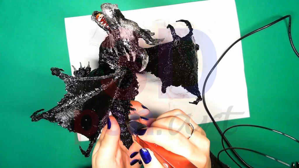 Дракон 3D ручкой. Крепим детали гребняДракон 3D ручкой. Крепим детали гребня