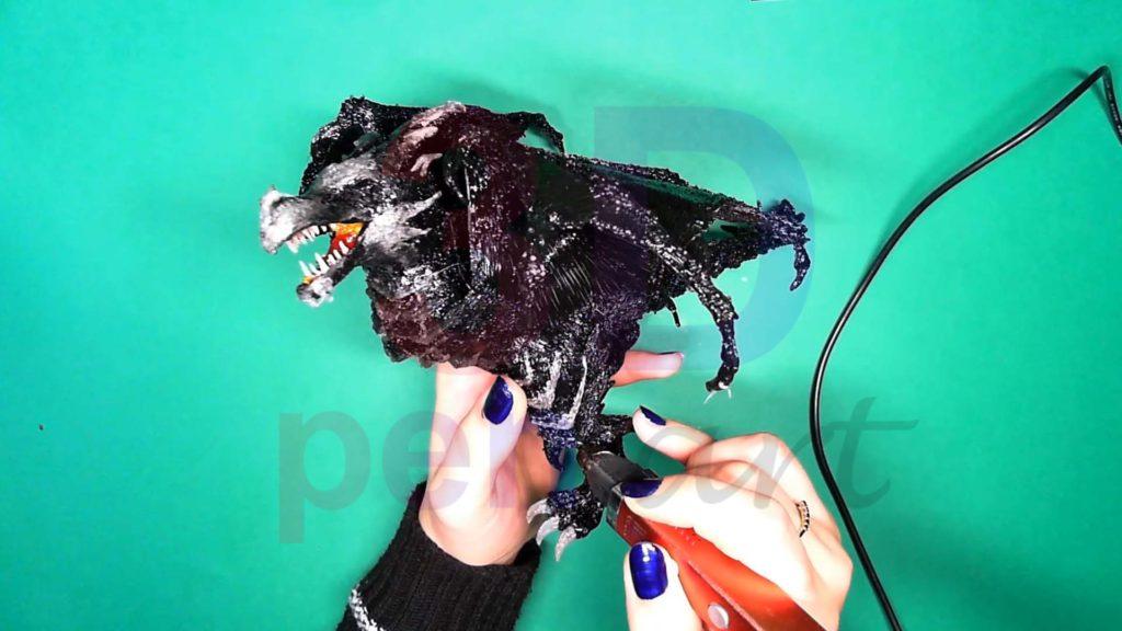 Дракон 3D ручкой. Обрамление текстур на лапах