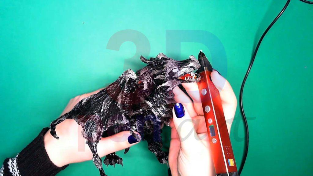 Дракон 3D ручкой. Основа глаз