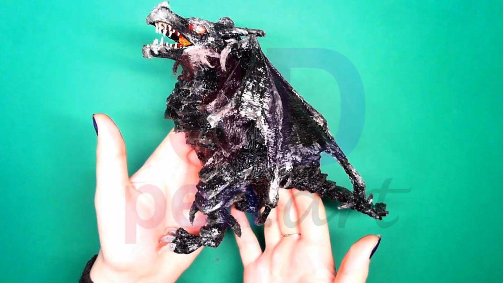 Дракон 3D ручкой. Готовая поделка